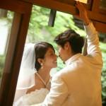 日本庭園|前撮り|ロケーション撮影|ドレス|カラードレス|ウェディングドレス