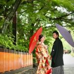 京都日和 新緑 ロケフォト 和装033