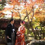 京都日和|紅葉|ロケフォト|和装|庭園